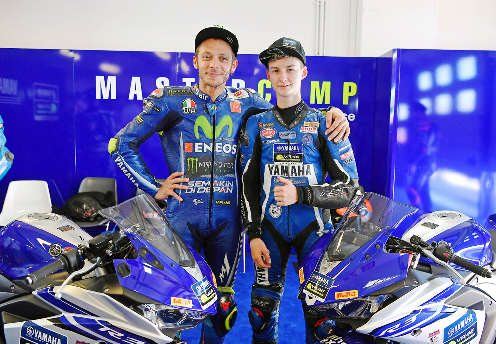 NICK KALININ ON MASTER CAMP YAMAHA VR46 WITH VALENTINO  ROSSI ACADEMY